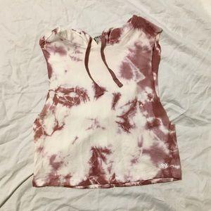 Cropped & Hooded Tye-Dye Muscle Tank from F21